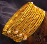 PEARL BEADS DESIGN BANGLES