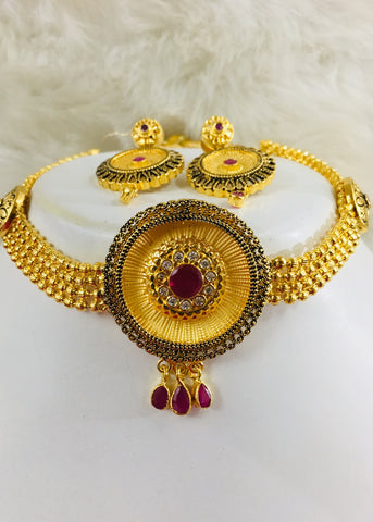 DESIGNER GOLD PLATED CHOKER