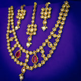 ELEGANT DESIGNING GOLD TONED NECKLACE SET