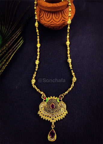 GOLD FINISH SHORT MANGALSUTRA