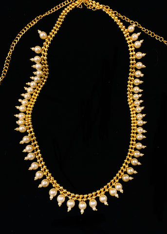 GOLDEN WITH PEARL BEADS MEKHALA