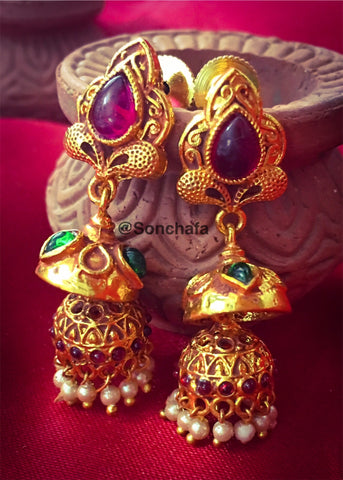 STYLISH TWIST JHUMKI EARRING