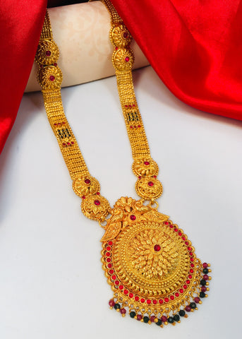 BEAUTIFUL FLORAL MANGALSUTRA WITH FREE CHARLI SILK SAREE