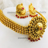 GOLDEN BEADS ANTIQUE CHOKER