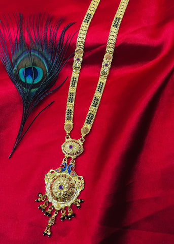FANCY PEACOCK PENDANT MANGALSUTRA