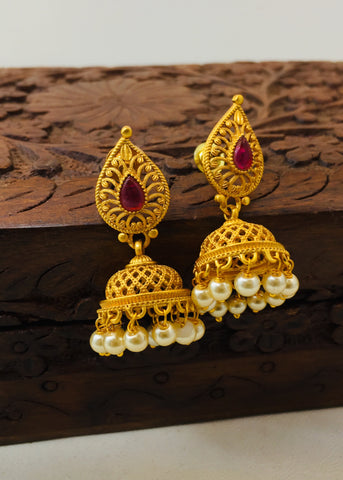 GRACEFUL MATTE JHUMKI