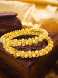 GOLDEN & PEARL BEADS BANGLES