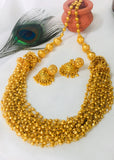 CLASSY GOLDEN BEADS WITH MULTI LAYER NECKLACE