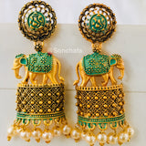 DESIGNER GAJANTLAXMI EARRINGS