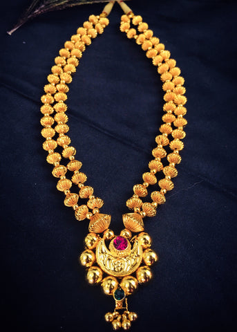 2 LAYER GOLDEN BEADS THUSHI