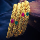 GOLD FINISH TRADITIONAL BANGLES