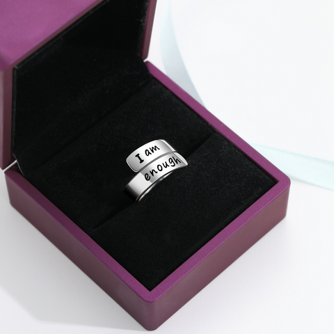 Thick Wrap 'I Am Enough' Ring