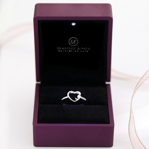 Semicolon Love Ring