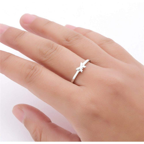 NEW! 925 SS - Butterfly of Hope Ring