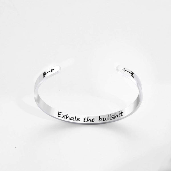 'Exhale the Bullshit' Bracelet