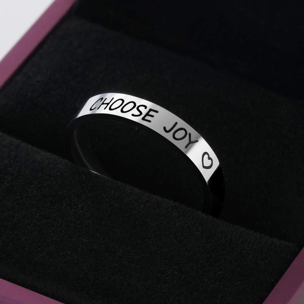 "Awareness Avenue ""Choose Joy"" Ring"