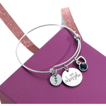 Birthstone 'I Am Enough' Bracelet