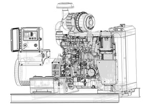 25 kW Diesel Generator | Tier 4 Final | Hatz | OPEN