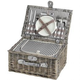 2 Person Wicker Picnic Basket/Hamper