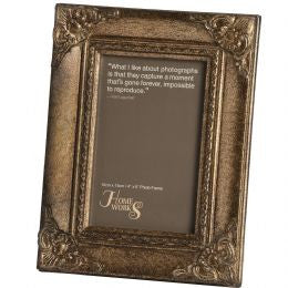 4x6 Antique Gold Gilded Photo Frame