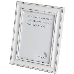 6 X 8 Antique White Photo Frame