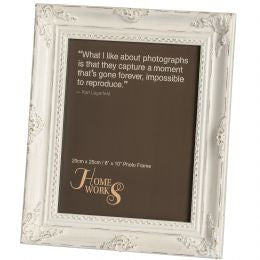 8x10 Antique White Gilded Photo Frame