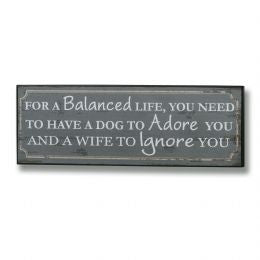A Balanced Life Plaque in Green