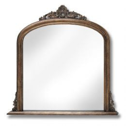 Antique Gold Over Mantle Mirror
