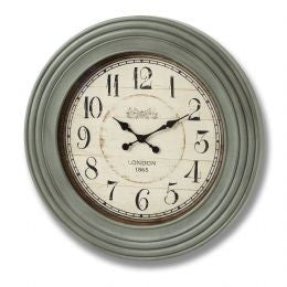 Antique grey London 1865 round wall clock