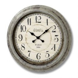 Antique grey round wall clock