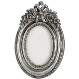 Antique Silver Coloured Oval Photo Frame