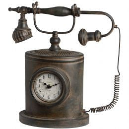 Antique telephone clock