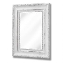 Antique White Rose Wall Mirror