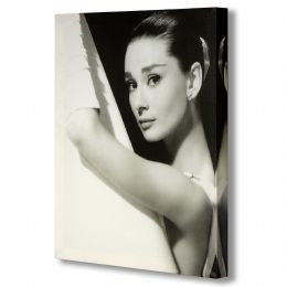 Audrey Hepburn in Evening Wear Canvas
