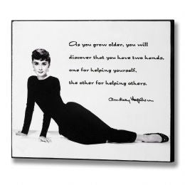 Audrey Hepburn - Two Hands Plaque