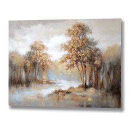Autumn Tree Scene Oil Painting