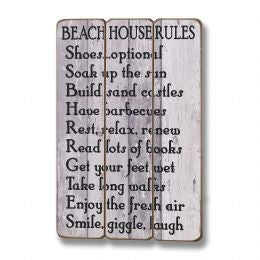Beach house Rules Plaque