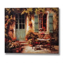 Bistro and Shutters Scene Canvas