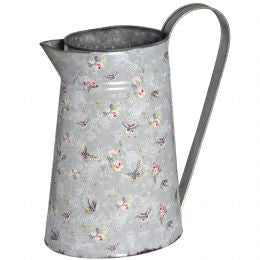 Blue butterfly large metal jug