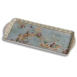 Blue oriental narrow tray