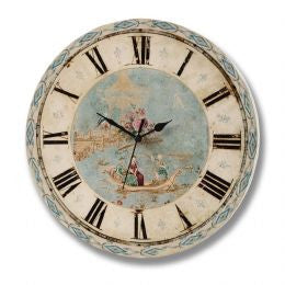 Blue oriental wall clock
