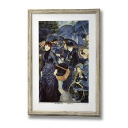 Blue Umbrellas Framed Prints