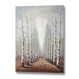 Boulevard of beech trees hand painted canvas