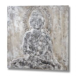 Buddha Oil Painting in Neutral Colour