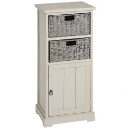 Carbis Cabinet with 2 Seagrass Drawers and Cupboard