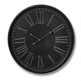 Charcoal Grey wall clock