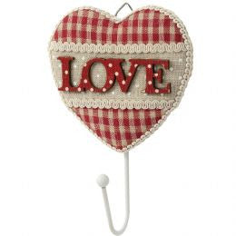 Coat Hook With Fabric Love Design