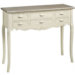 Country 6 drawer console table