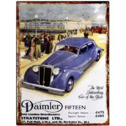 Daimler Tin Plaque