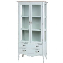 Display Cabinet with 2 Drawers